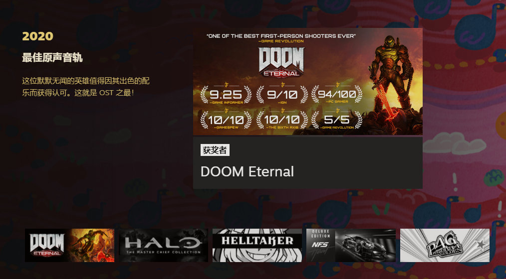 """020年Steam大奖获奖作品,哪款你玩过了呢?"""""""